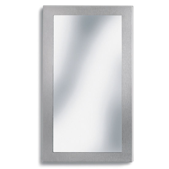 Blomus Brushed Stainless Steel Rectangular Bathroom Mirror