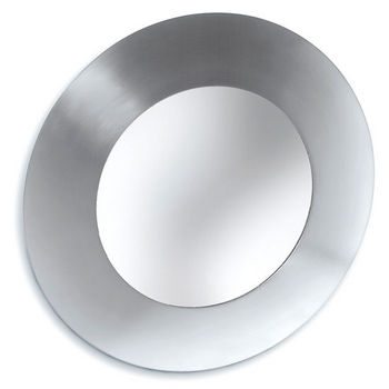 Blomus Brushed Stainless Steel Round Bathroom Mirror