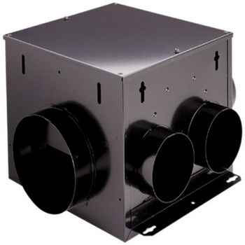 Broan 110 CFM Multi port in line ventilator with 2 inlets
