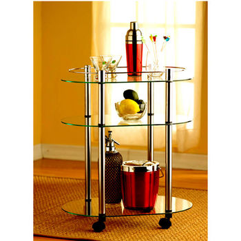 Classic Glass Series Three-Tier Serving Cart