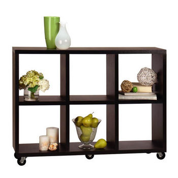 Northfield Collection Rolling Room Divider / Bookcase