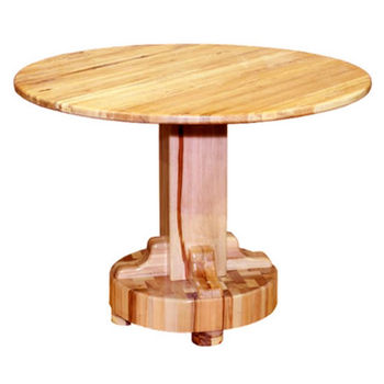 Round Dining Tables with Butcher Block Bases by Bradley Brand Furniture