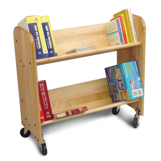 Catskill Bookmaster Rol-Rack - Book & Video Carts, 27'' Natural Birch