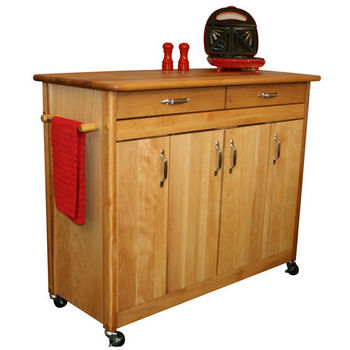 Catskill Butcher Block Island with Flat Panel Doors