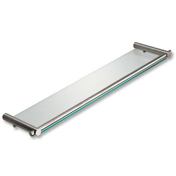 Cool-Line Satin or Polished Stainless Steel/Glass Mirror/Toiletry Shelf