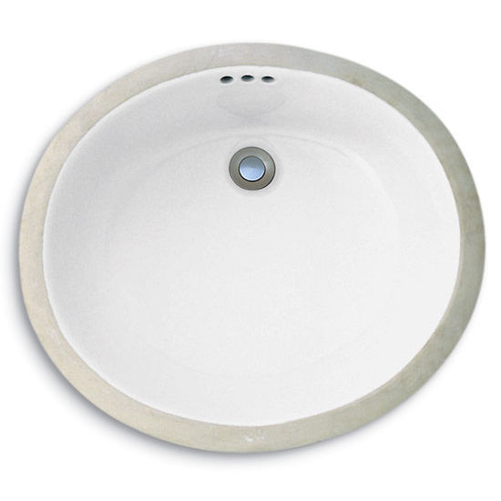 "Cole & Co. Hampton Sink, White, 19""W x 16""D x 6""H"