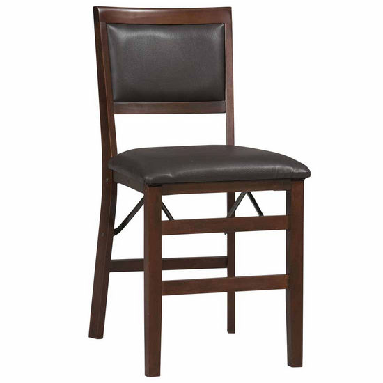 Covington Triena Pad Back Folding Chair, Espresso