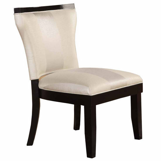 Covington Madison Pad Back Accent Chair, Pearl with Black Frame