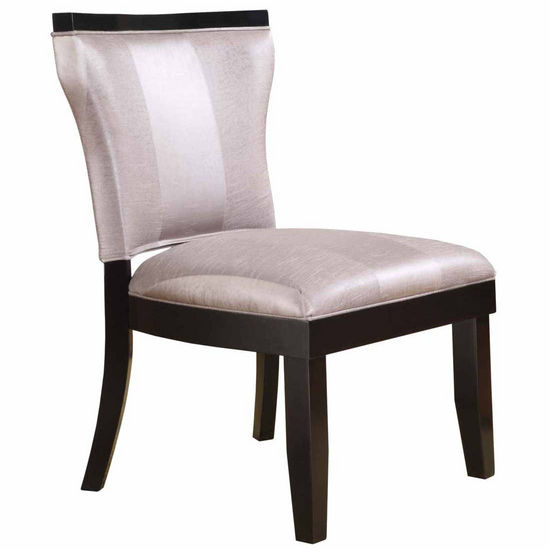 Covington Madison Pad Back Accent Chair, Silver with Black Frame