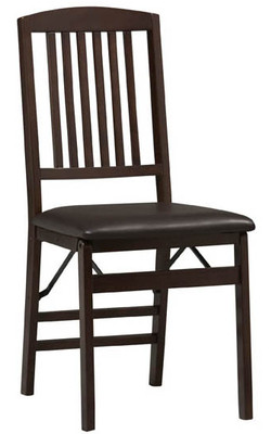 Covington - Triena Mission Back Folding Chair, Espresso