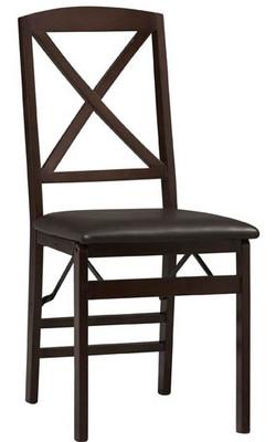 Covington - Triena X Back Folding Chair, Espresso