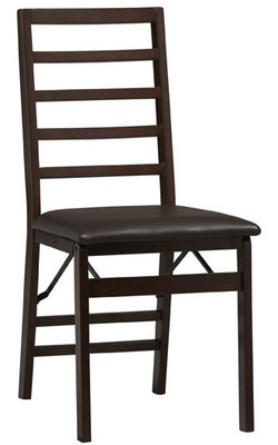 Covington - Triena Ladder Back Folding Chair, Espresso