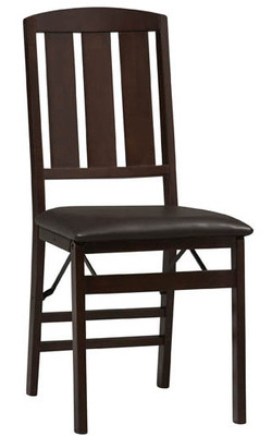 Covington - Triena Slat Back Folding Chair, Espresso
