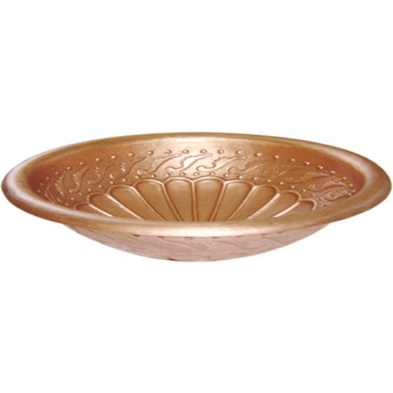 Distinctive Solutions - Round Copper Drop-In Sink With Rolled Rim