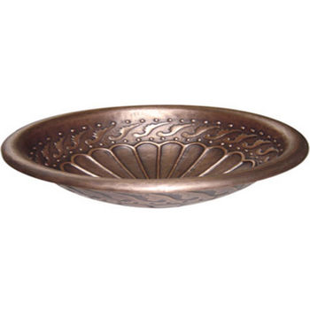 Distinctive Solutions - Round Copper Drop-In Sink w/ Rolled Rim