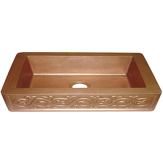 "e Solutions - Old Penny Egg-Shell Single Bowl Sink 30"" W"