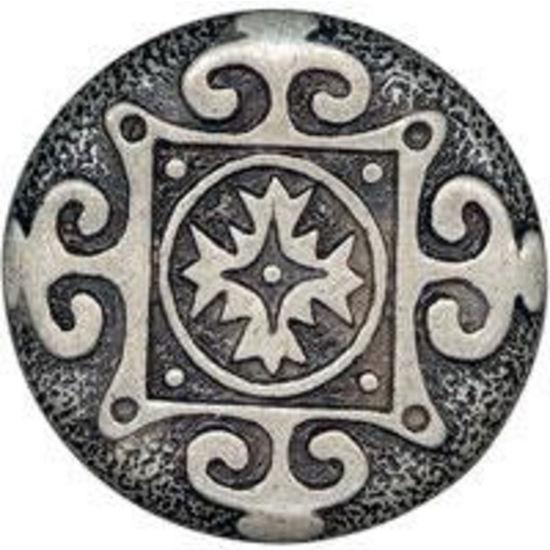 Dalka Round Snowflake Knob, Antique Copper