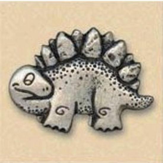 Dalka Dinosaur Knob, Antique Brass