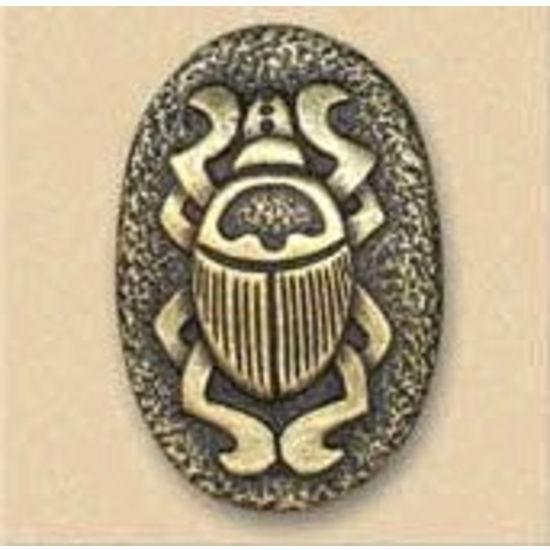 Dalka Beetle Symbol Knob, Antique Brass
