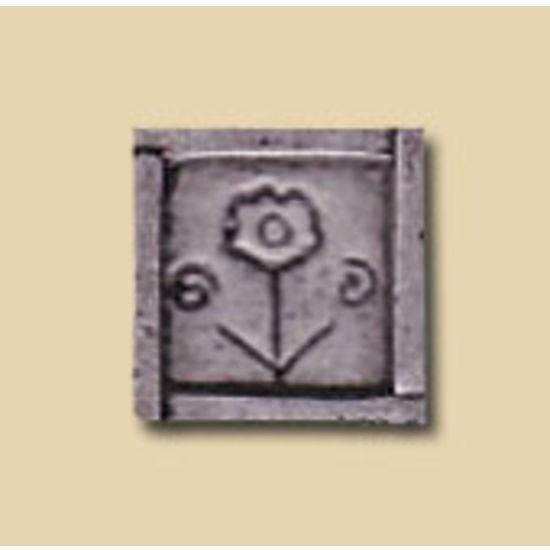 Dalka Flower in Frame Knob, Antique Pewter