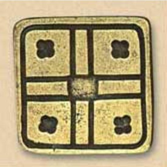 Dalka Square Knob, Antique Copper