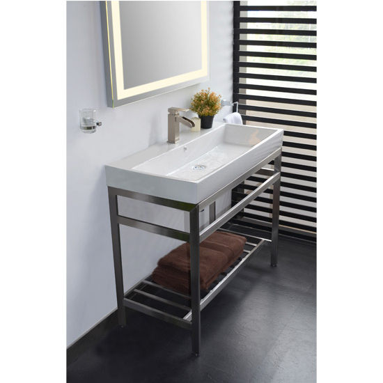 Bathroom vanities stainless steel south beach 31 vanity Stainless steel bathroom vanities