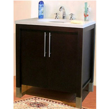 "Empire Contempo 24"" Bathroom Vanity in Dark Mahogany"