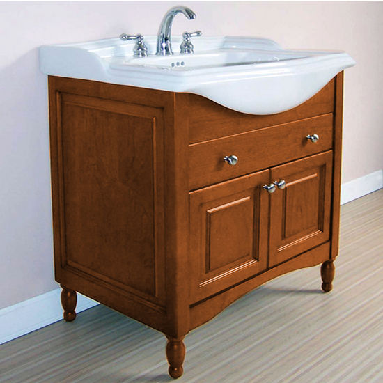 "Empire Windsor 31"" Extra Deep Solid Wood Bathroom Vanity in Light Cherry"