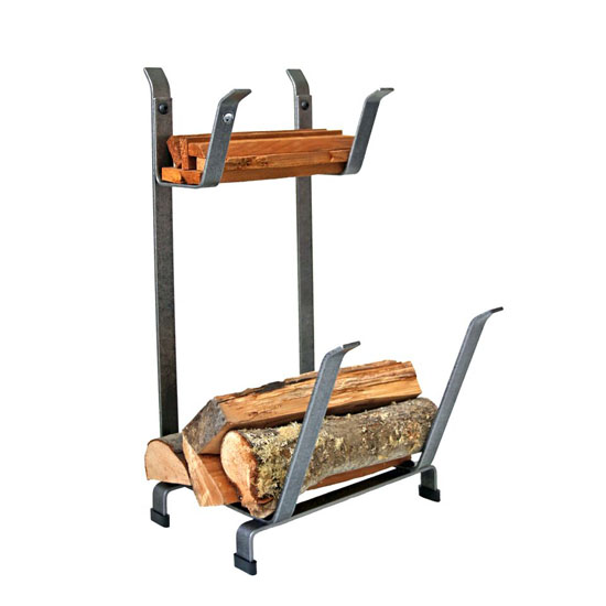 Log Rack With Kindling Holder (Country Home)