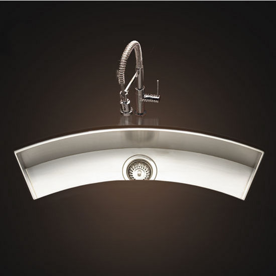 Undermount Curved Trough Bar/Prep Sink by Houzer