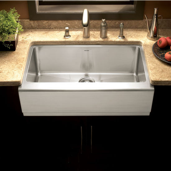 Epicure Stainless Steel Single Bowl Farmhouse Sink by Houzer