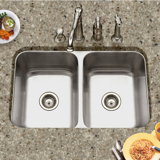 50/50 Undermount Double Bowl Kitchen Sink by Houzer