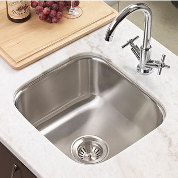 Houzer Club Series Undermount Square Bar/Prep Sink