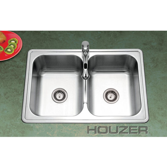 Topmount Double Bowl Kitchen Sink by Houzer