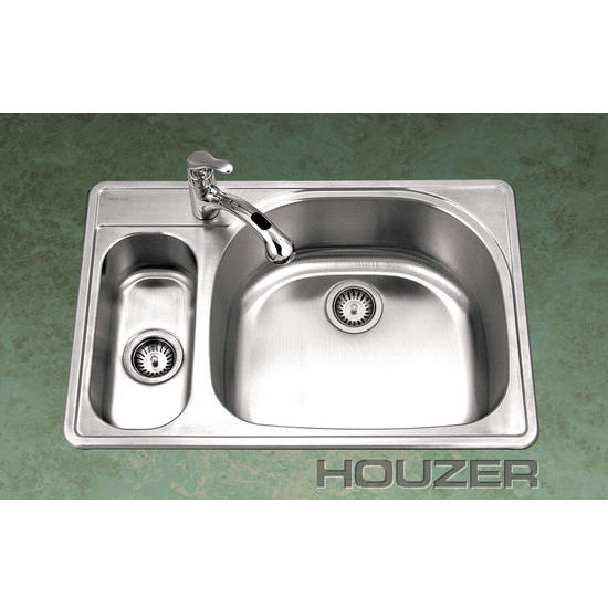80/20 Topmount Double Bowl Kitchen Sink - Houzer