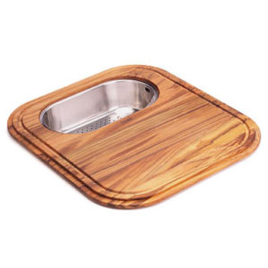 Franke EuroPro Solid Wood Cutting Board with Polished Stainless Steel ...