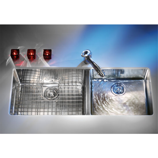 Franke Kubus Stainless Steel Double Bowl Undermount Sink, 38-9/16 w x ...