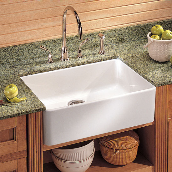 Franke Elba Sink : Franke Fireclay Apron Front Undermount or Drop-On Sink, Matte Black