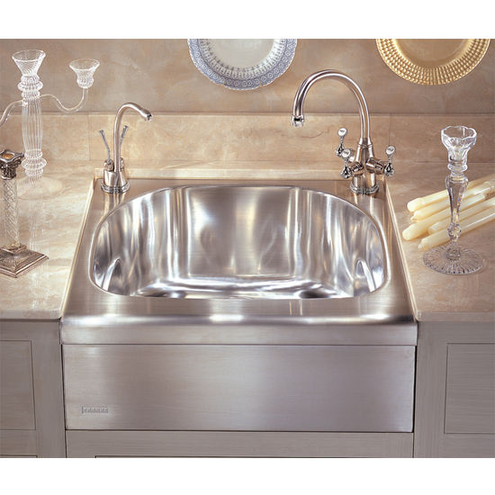 Franke Manor House Stainless Steel Apron Front Single Bowl Sink (MHX710  7.61214E+12