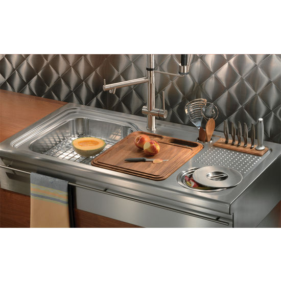 Franke Orca Stainless Steel Single Bowl Drop-On Sink (ORX710 7.61287E ...