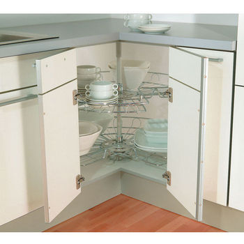 Fulterer Pie-Cut Corner Base & Wall Cabinet Set