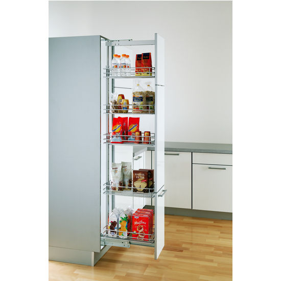 Pantry Cabinet Pull Out Systems EZ Close Dampening Slides By