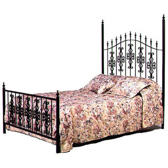Grace Gothic Gate - Twin Bed Headboard Only, Aged Iron