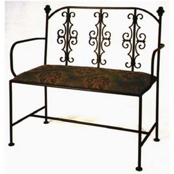 Grace Collection Gothic Iron Loveseat in Burnished Copper