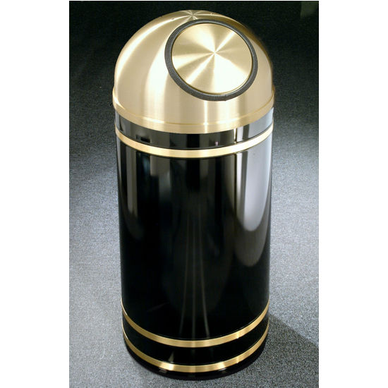 Monte Carlo WasteMaster� Collection Satin Brass Cover Dome Top Waste Receptacles