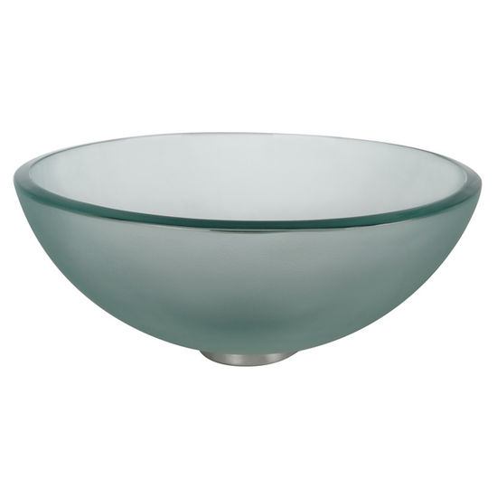 "Kraus Frosted 14"" Glass Vessel Sink"