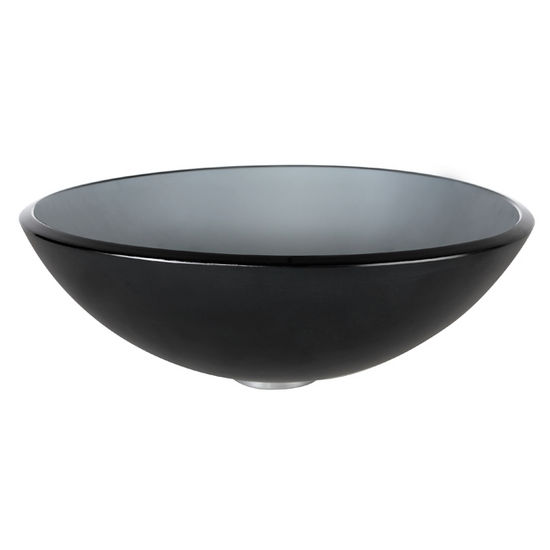 Kraus Frosted Black Glass Vessel Sink