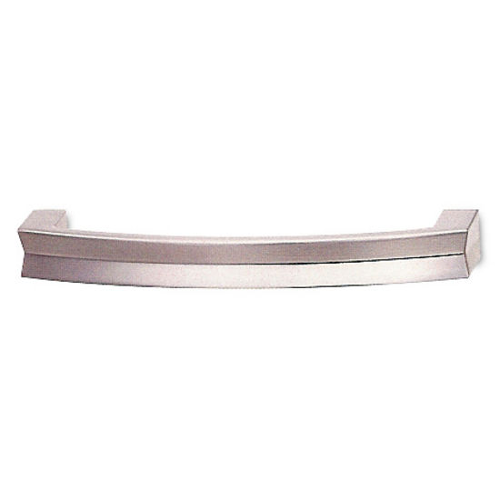 Modern Zinc Handle, Brushed Nickel
