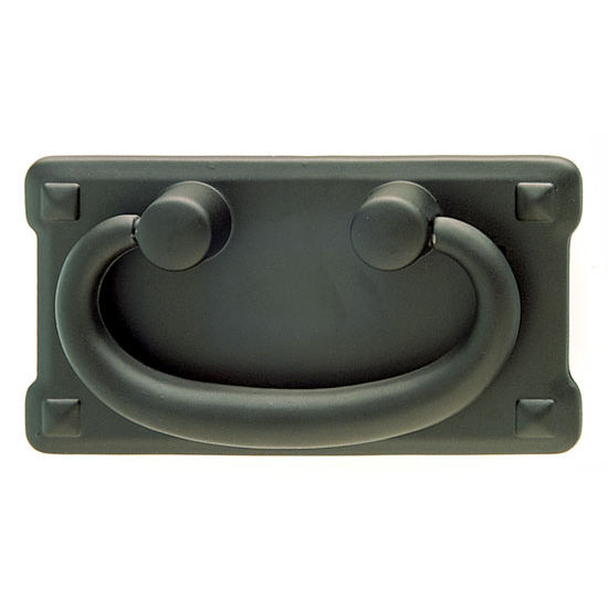 Cabinet Pulls - Hafele Traditional Zinc Handle - Black Epoxy