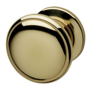Hafele Traditional Brass Knob, 31 mm Dia., 26 mm D, Polished & Lacquered